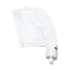 White All-Purpose Debris Bag With Zippered Closure
